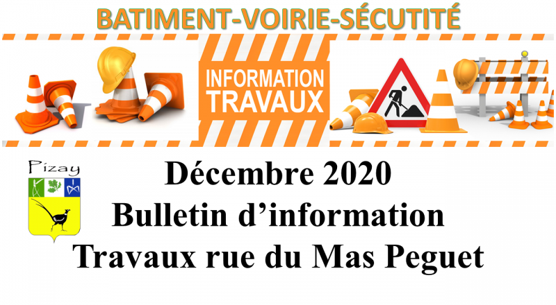 Novembre 2020 - Bulletin d'information Travaux